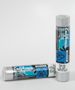 California Slims True OG Indica Pre-Roll Single Two Silver Container