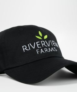 River View Farms Baseball Hat Black Front View