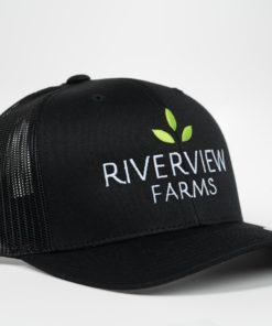 River View Farms All Black Trucker Hat Front View